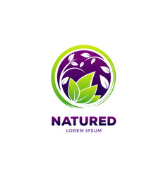 nature healthy life logo symbol icon vector image