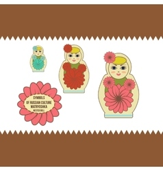 nested doll vector image