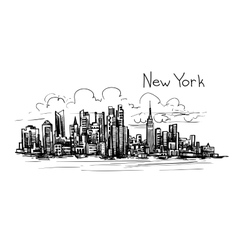 New york sketch vector