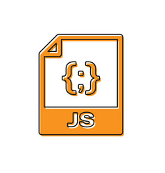 Orange js file document icon download js button vector