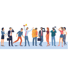 people characters various activities vector image