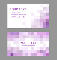 Pink abstract business card template design vector image
