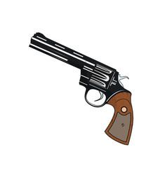 pistol revolver vector image