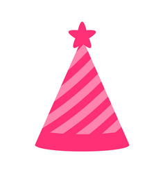princess party pink cap color vector image