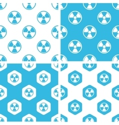Radiohazard patterns set vector image