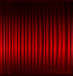 red stage curtain with black border and glitter vector image