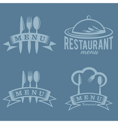 restaurant and menu elements set vector image