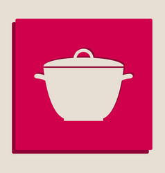 saucepan simple sign grayscale version of vector image