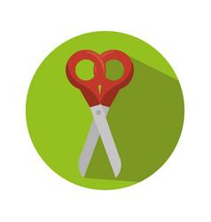 Scissor school supply icon vector