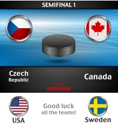 Semifinal of the world championship hockey vector image