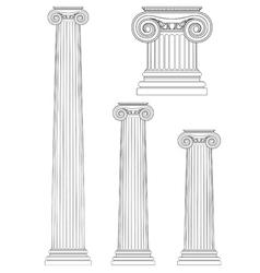 Set ionic column vector