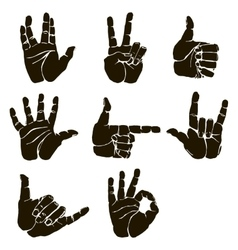 Set of hand gesture vector