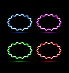 set of neon banners on a black background vector image