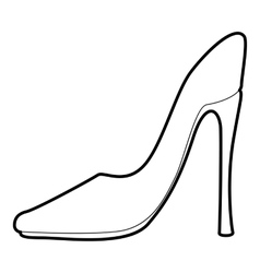 Shoe icon outline style vector image
