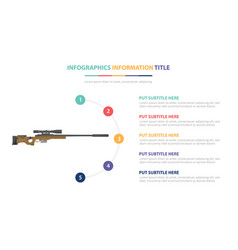 Sniper riffle infographic template concept vector