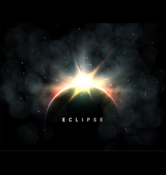 Space eclipse background vector