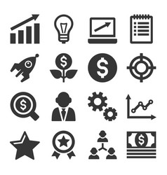 Startup business icons set vector