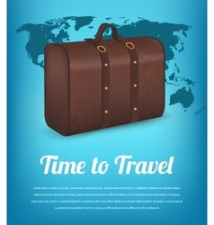 Suitcase for traveling on the background of the vector image
