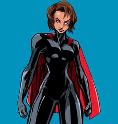 Superheroine battle mode no mask vector