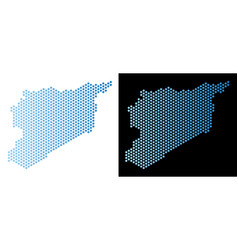 syria map honeycomb abstraction vector image
