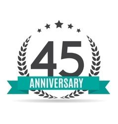 Template Logo 45 Years Anniversary vector