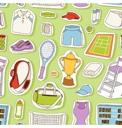 Tennis seamless pattern vector