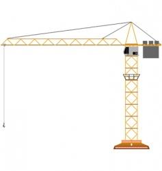 Toy crane vector