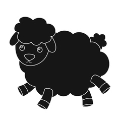Toy sheep icon in black style isolated on white vector