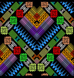tribal colorful greek seamless pattern vector image