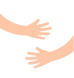 two human hands holding or embracing something vector image
