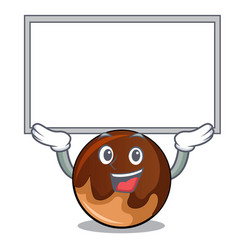 Up board chocolate donut character cartoon vector