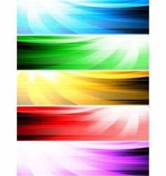 Vector abstract style banners vector