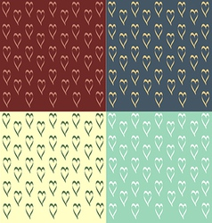 Vintage design heart vector