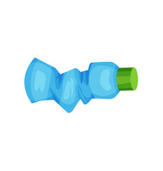 wmpty blue spray bottle plastic waste for vector image