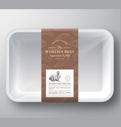 worlds best rabbit abstract plastic tray vector image