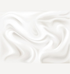 yogurt cream or silk texture vector image