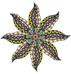 card with mandala vector image vector image