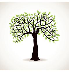 green leaf tree vector image