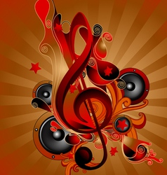 Music Theme vector image
