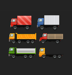 set of various urban and city cars vector image