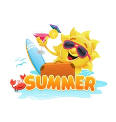 Summer Theme 2 vector image