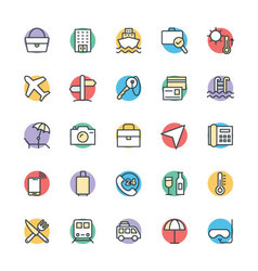 Travel Cool Icons 1 vector image