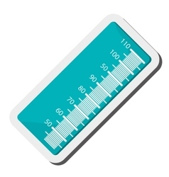 wide ruler icon vector image