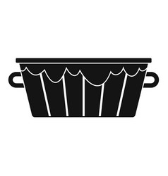 wooden tub icon simple style vector image