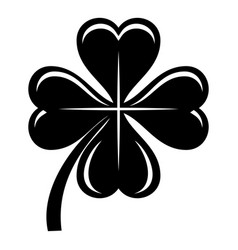 four leaf clover icon simple black style vector image
