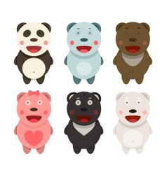 Kawaii Bears Collection vector image vector image