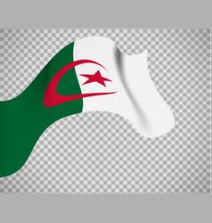 algeria flag on transparent background vector image