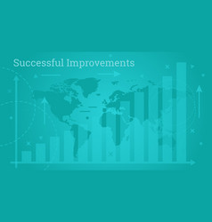 business banner - successful improvements vector image vector image