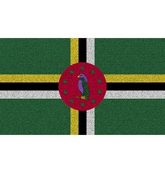 Flags Dominica on denim texture vector image vector image