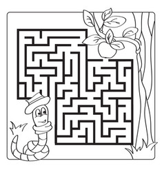 labyrinth maze for kids entry and exit children vector image
